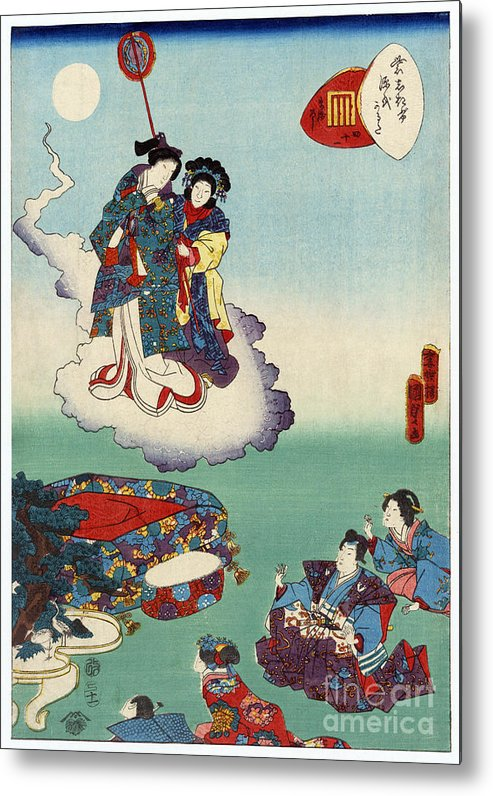 12th Century Metal Print featuring the photograph Japan: Tale Of Genji by Granger