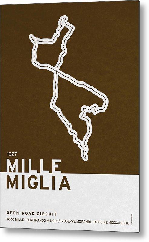 F1 Metal Print featuring the digital art Legendary Races - 1927 Mille Miglia by Chungkong Art