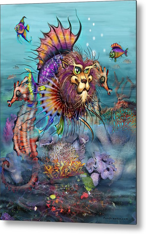Lionfish Metal Print featuring the painting Lionfish by Kevin Middleton