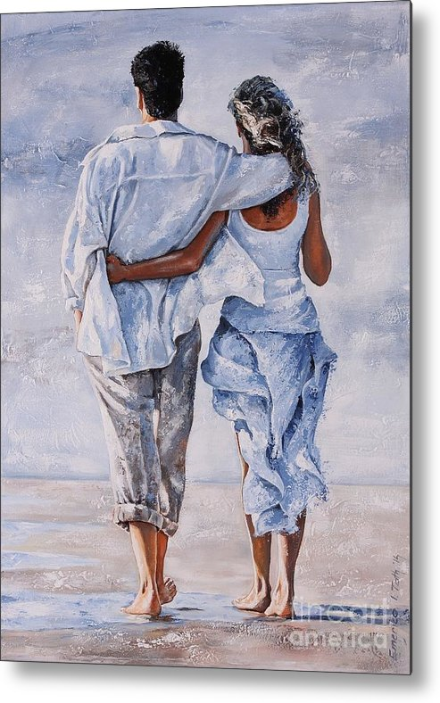Couple Metal Print featuring the painting Memories Of Love by Emerico Imre Toth