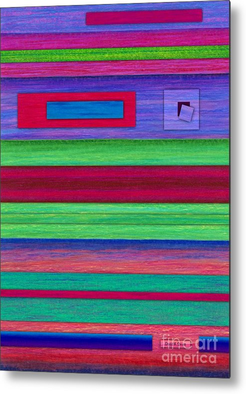 Colored Pencil Metal Print featuring the painting Merger by David K Small