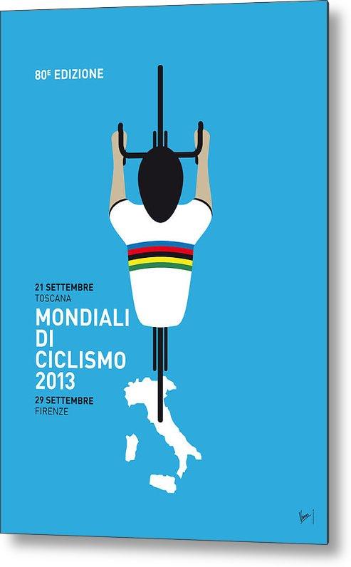 2013 Metal Print featuring the digital art My World Championships Minimal Poster by Chungkong Art