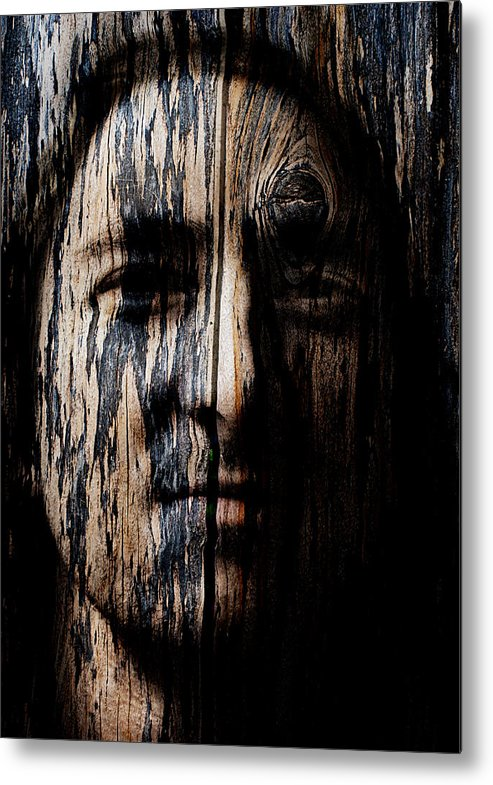 Native Metal Print featuring the painting Native Heritage by Christopher Gaston