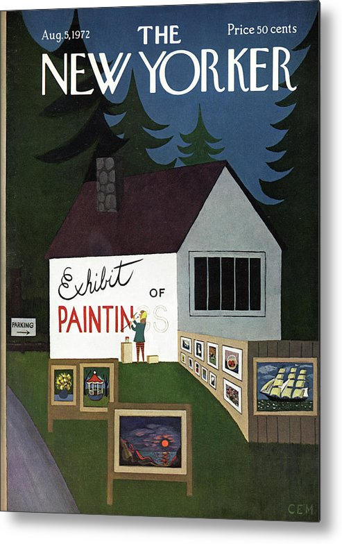 Art Metal Print featuring the painting New Yorker August 5th, 1972 by Charles E Martin
