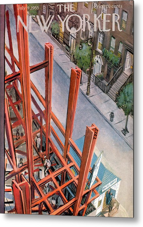 Urban Metal Print featuring the painting New Yorker July 9th, 1955 by Arthur Getz