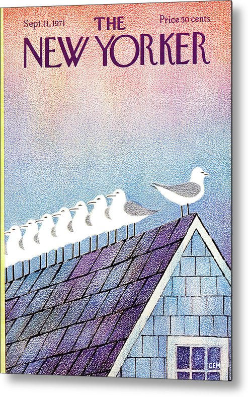Animals Metal Print featuring the painting New Yorker September 11th, 1971 by Charles E Martin