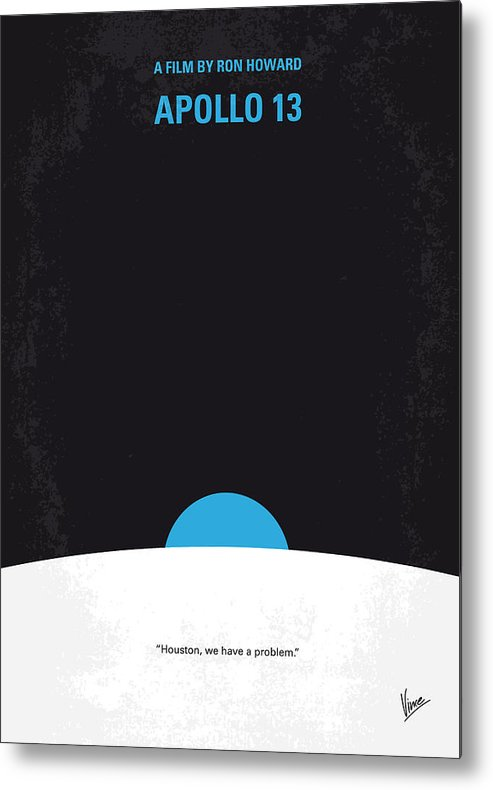 Apollo Metal Print featuring the digital art No151 My Apollo 13 Minimal Movie Poster by Chungkong Art