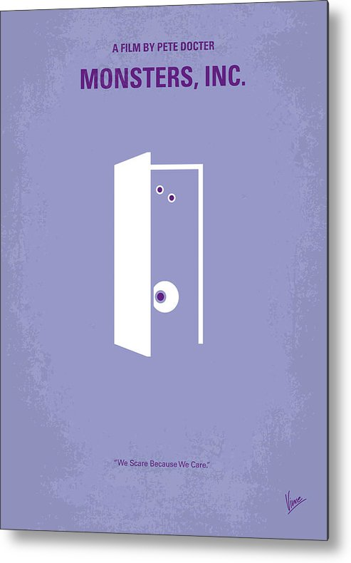 Monster Metal Print featuring the digital art No161 My Monster Inc Minimal Movie Poster by Chungkong Art