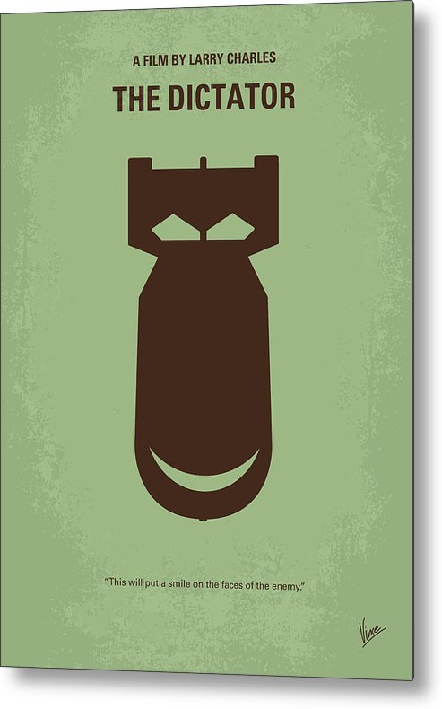The Metal Print featuring the digital art No212 My The Dictator Minimal Movie Poster by Chungkong Art