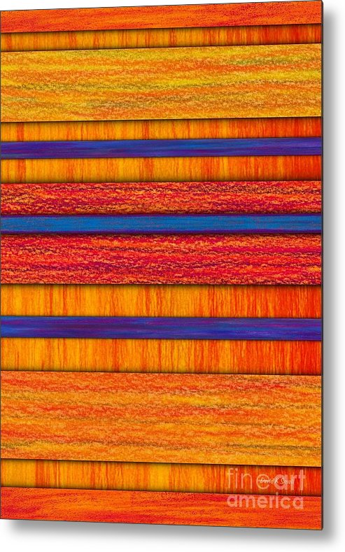 Colored Pencil Metal Print featuring the painting Orange And Blueberry Bars by David K Small
