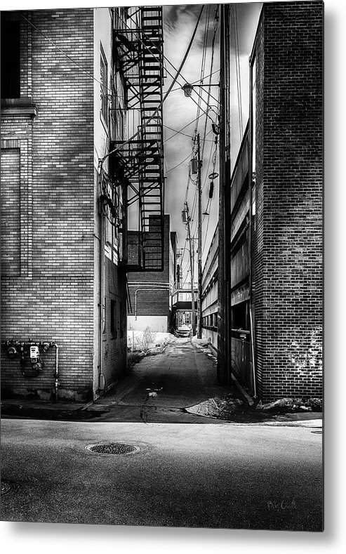 Alley Metal Print featuring the photograph Park Alley Sunset by Bob Orsillo