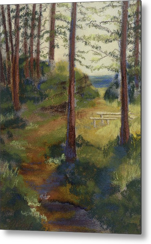 Picnic Metal Print featuring the painting Picnic Spot by Julia Graf