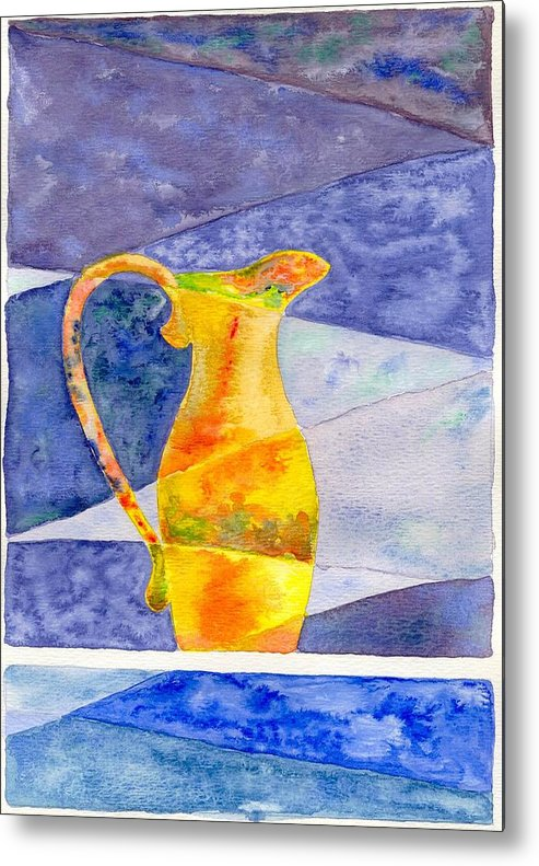 Still Life Metal Print featuring the painting Pitcher 1 by Micah Guenther