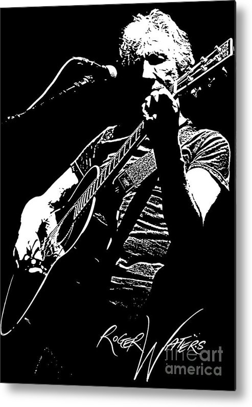 Roger Waters Metal Print featuring the digital art Roger Waters No.01 by Caio Caldas