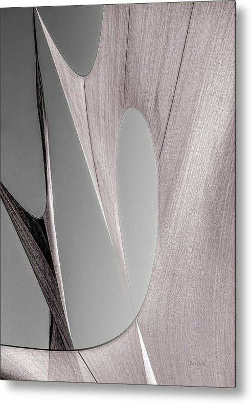 Abstract Metal Print featuring the photograph Sailcloth Abstract Number 2 by Bob Orsillo