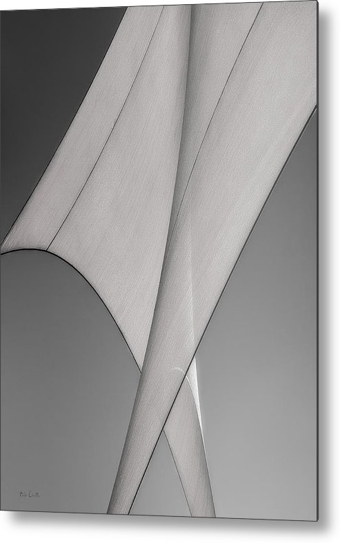 Abstract Metal Print featuring the photograph Sailcloth Abstract Number 3 by Bob Orsillo