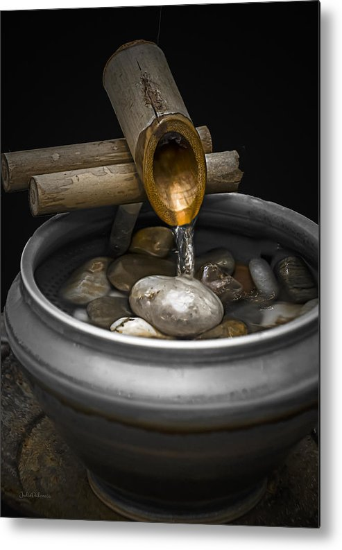 Water Fountain Metal Print featuring the photograph Soothing Flow by Julie Palencia