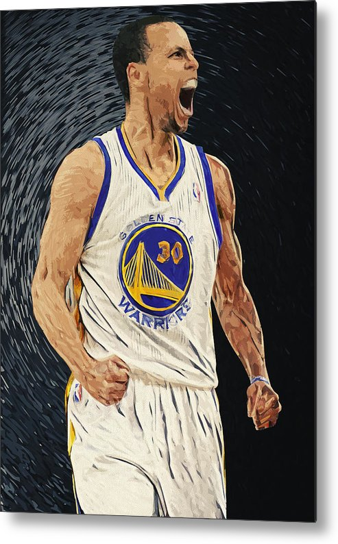 Stephen Curry Metal Print featuring the digital art Stephen Curry by Zapista