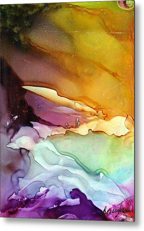 Cove Metal Print featuring the painting The Cove by Alexis Bonavitacola