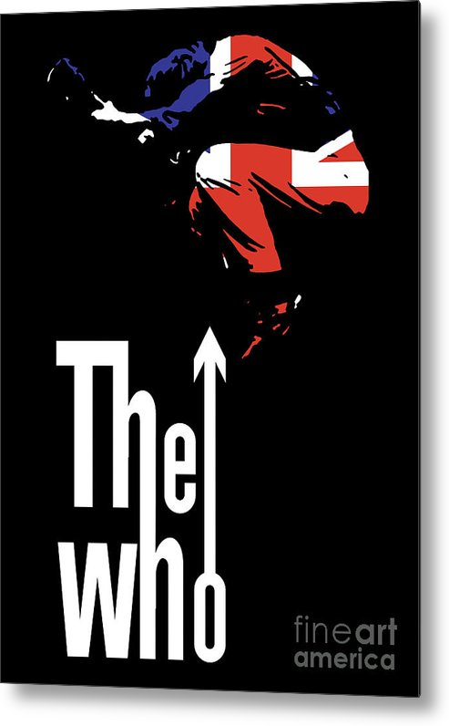 The Who Metal Print featuring the digital art The Who No.01 by Caio Caldas
