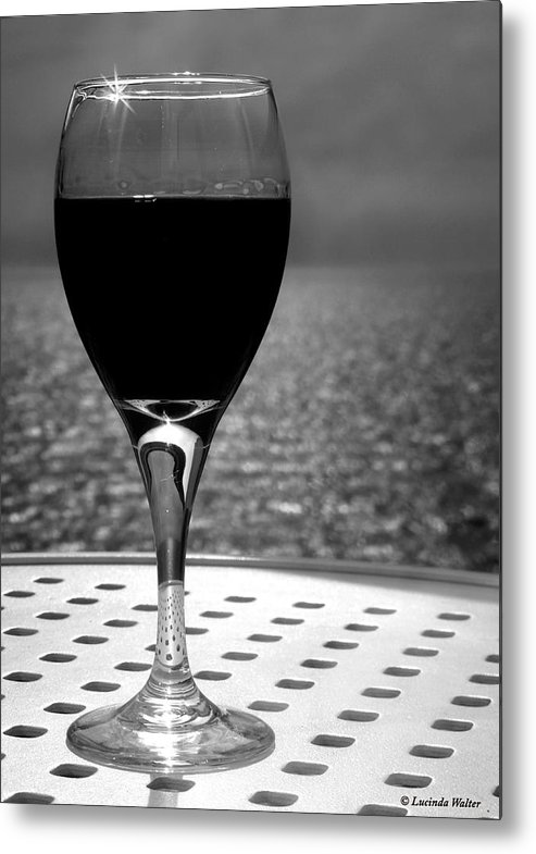 Wine Metal Print featuring the photograph Time To Relax by Lucinda Walter