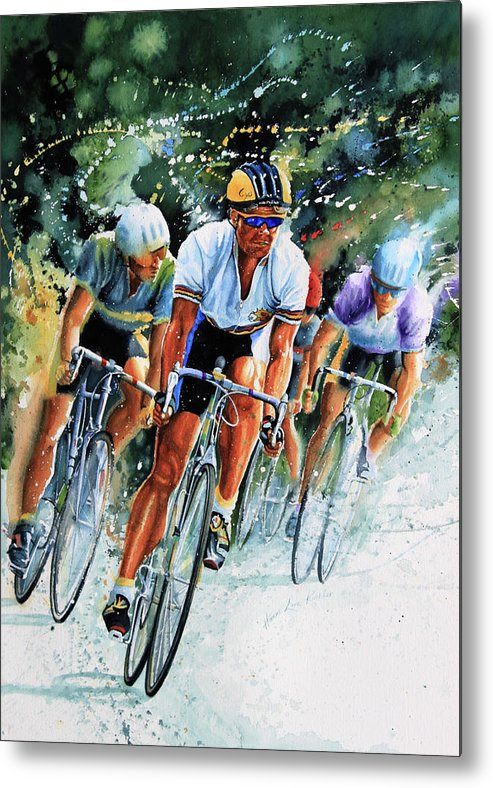 Tour De France Metal Print featuring the painting Tour De Force by Hanne Lore Koehler