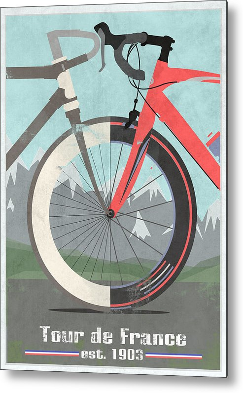 France Metal Print featuring the digital art Tour De France Bicycle by Andy Scullion