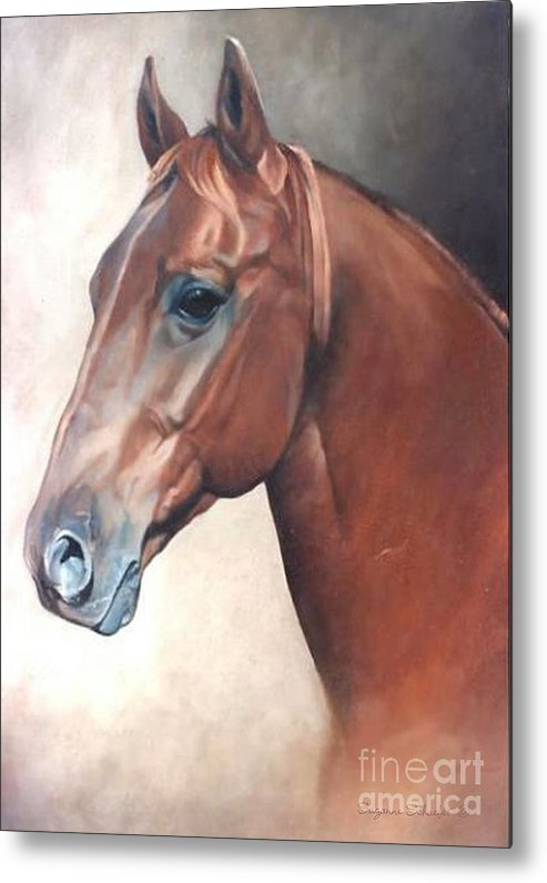Horses Metal Print featuring the painting Winddancer by Suzanne Schaefer