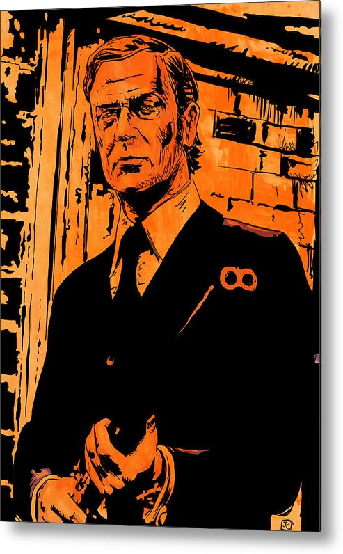 Michael Caine Metal Print featuring the drawing Michael Caine by Giuseppe Cristiano