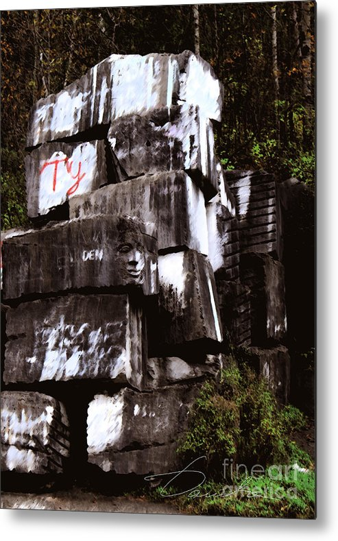Quarry Metal Print featuring the photograph Quarry Face by Danuta Bennett