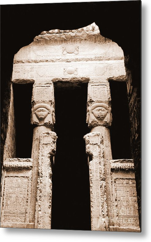 Temple Metal Print featuring the photograph Temple Of Hathor by Photo Researchers, Inc.