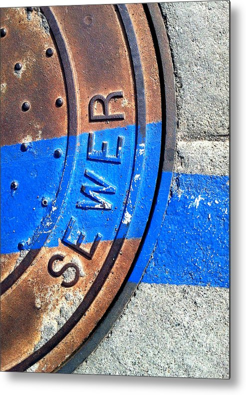 Marlene Burns Metal Print featuring the photograph Bluer Sewer Three by Marlene Burns