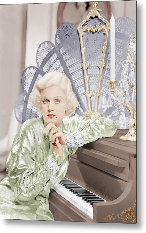 1930s Movies Metal Print featuring the photograph Bombshell, Jean Harlow, 1933 by Everett