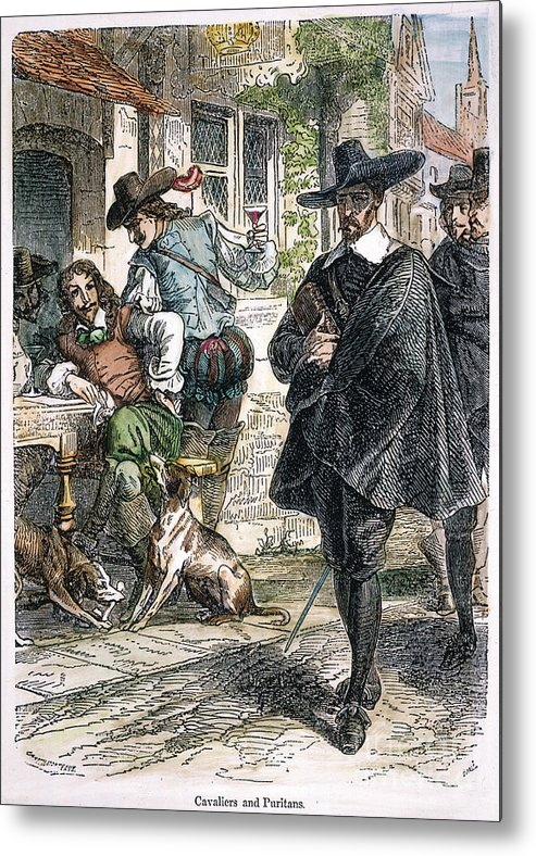 1640 Metal Print featuring the photograph Cavaliers & Puritans by Granger