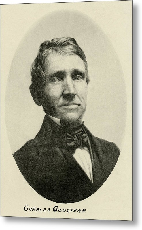 Charles Goodyear Metal Print featuring the photograph Charles Goodyear, American Inventor by Humanities & Social Sciences Librarynew York Public Library