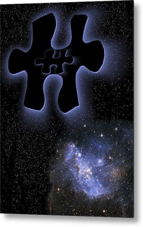 Star Metal Print featuring the photograph Dark Matter, Conceptual Artwork by Victor De Schwanberg