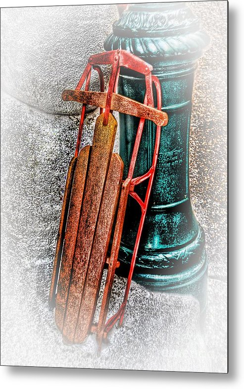 Sled Metal Print featuring the photograph Fun Time by Arnie Goldstein