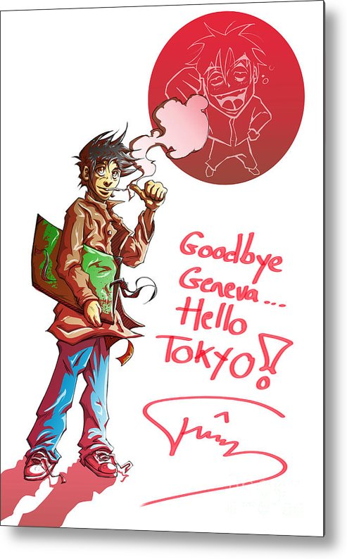 Goodbye Metal Print featuring the drawing Goodbye by Tuan HollaBack