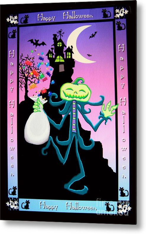 Haunted Metal Print featuring the digital art Haunted House by Nick Gustafson