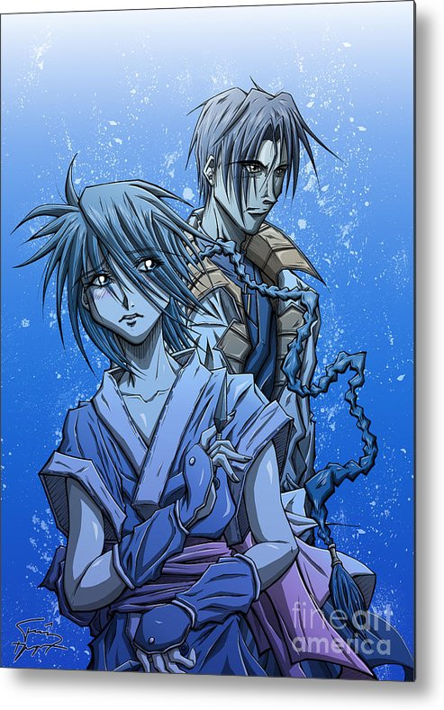 Tuan Metal Print featuring the drawing Misao And Aoshi by Tuan HollaBack