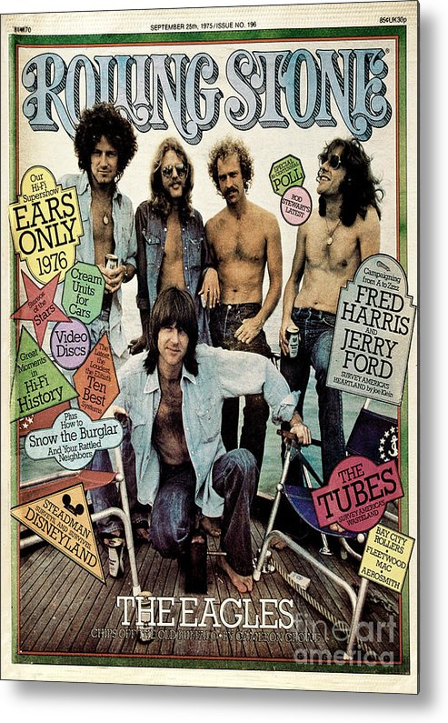 The Eagles Metal Print featuring the photograph Rolling Stone Cover - Volume #196 - 9/25/1975 - The Eagles by Neal Preston