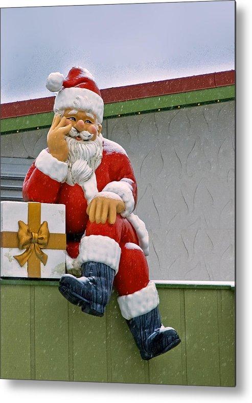 Bronner's Metal Print featuring the photograph Santa Is Waiting For You by LeeAnn McLaneGoetz McLaneGoetzStudioLLCcom