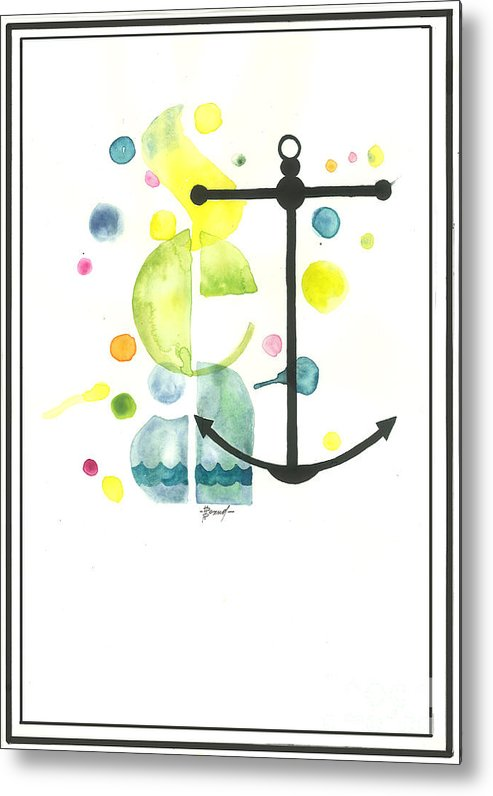 Metal Print featuring the painting sea by Viki Vehnovsky