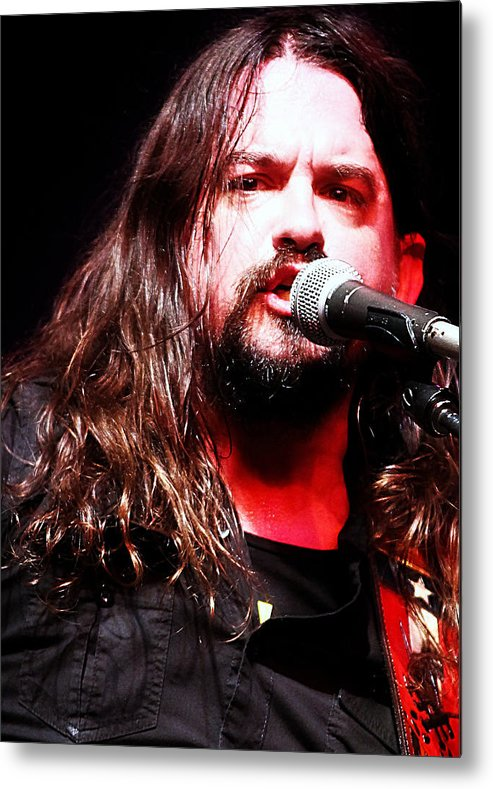 Shooter Metal Print featuring the photograph Shooter Jennings - Let It Rage by Elizabeth Hart