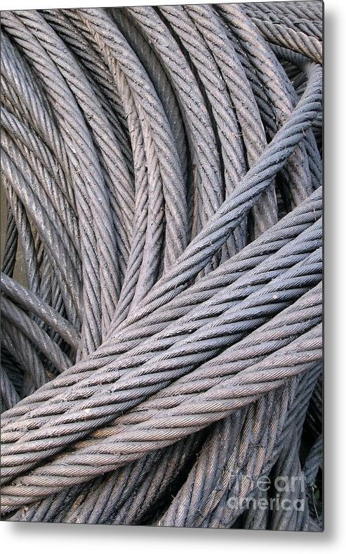 Steel Metal Print featuring the photograph Strong Wire Rope by Yali Shi