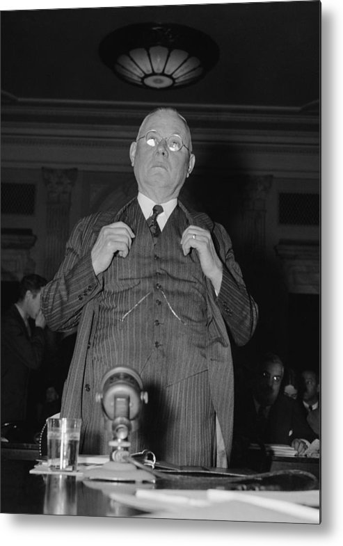 History Metal Print featuring the photograph William Green 1873-1952, President by Everett