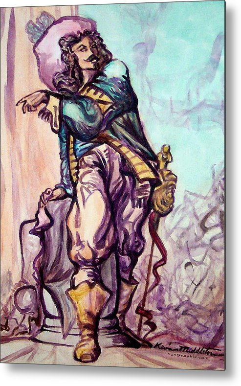 Musketeer Metal Print featuring the painting Musketeer by Kevin Middleton