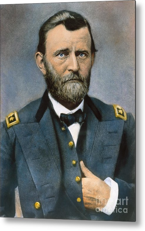 1864 Metal Print featuring the photograph Ulysses S. Grant (1822-1885) by Granger