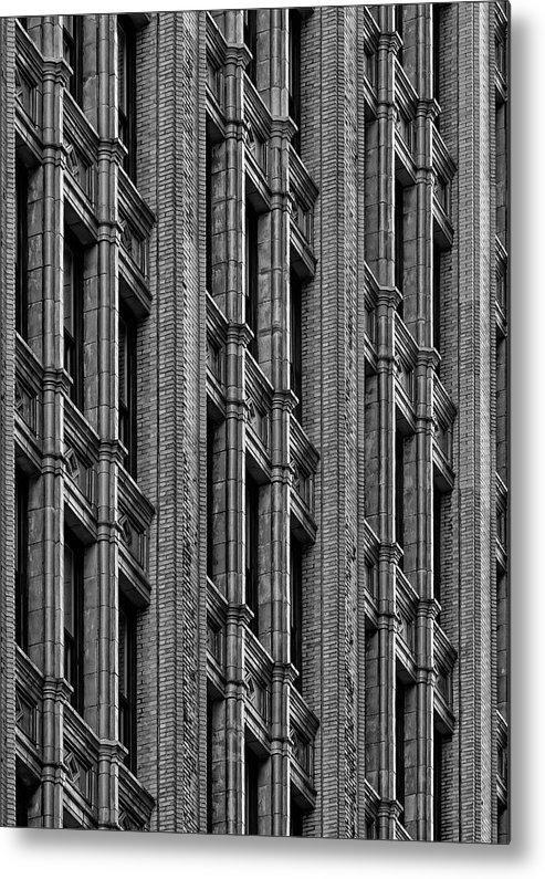 Architectural Detail Metal Print featuring the photograph Office Building Midtown Manhattan by Robert Ullmann