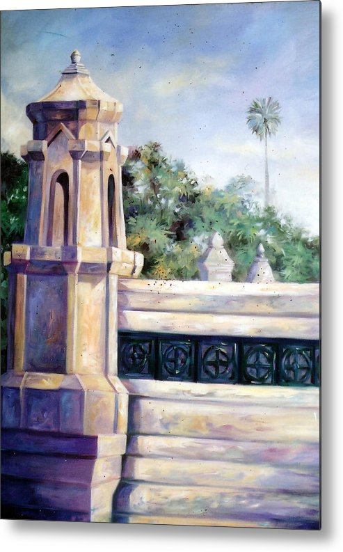 Oil Metal Print featuring the painting Untitled by Chonkhet Phanwichien